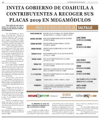 Page 10 E L Heraldo De Saltillo Viernes 04 De Enero 2019