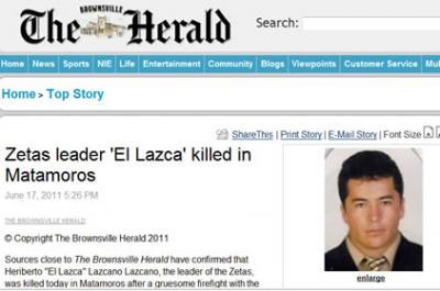 Heriberto Lazcano Lazcano alias El Lazca ¿Fue abatido o se suicidó?. EXAMEN MÉDICO FORENSE.. Md_5342