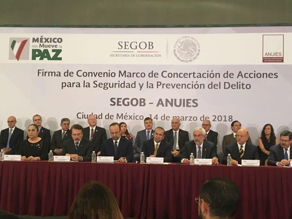 Firman convenio SEGOB y ANUIES para prevención conjunta del delito