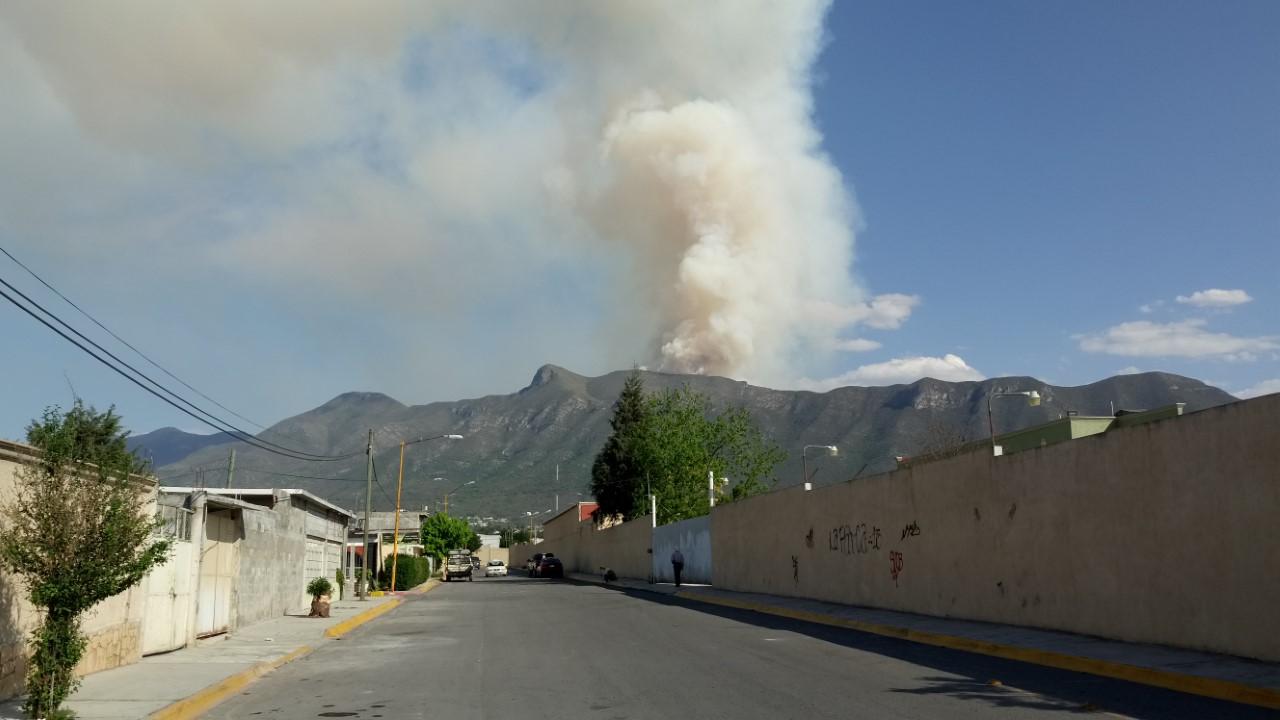 Imágenes del fuerte incendio en la Sierra Zapaliname