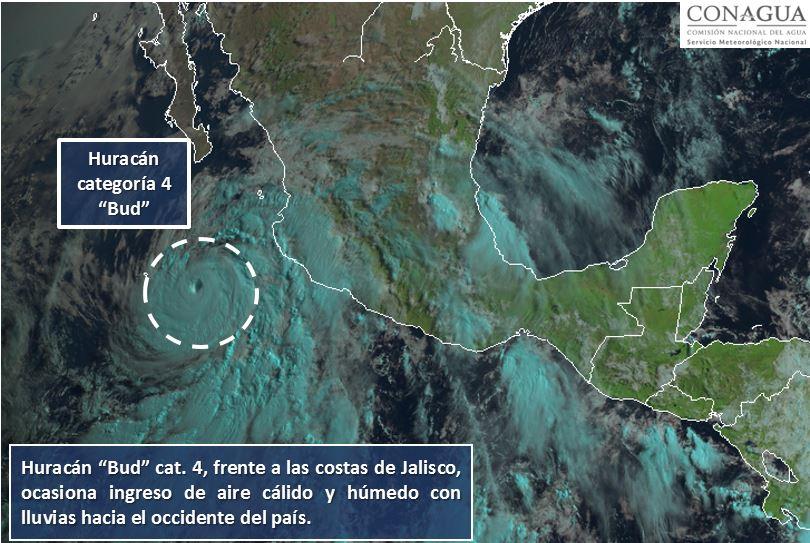 Activan Plan Marina por huracán \'Bud\' en costas mexicanas