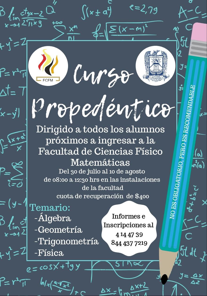 Invita Facultad de Ciencias Físico Matemáticas de la UA de C a su curso propedéutico