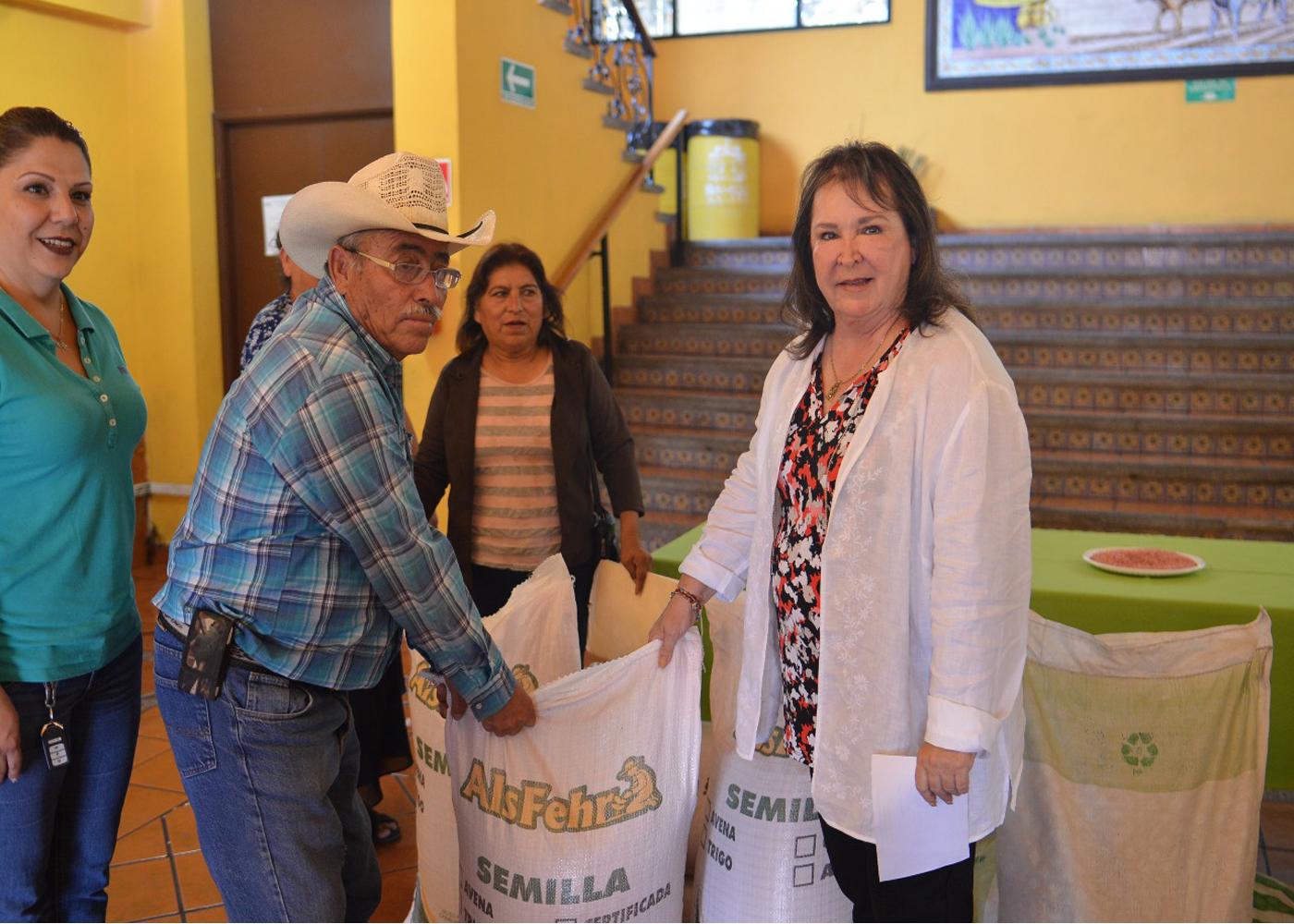 Municipio de ramos entrega semillas a campesinos el for Zacate de invierno