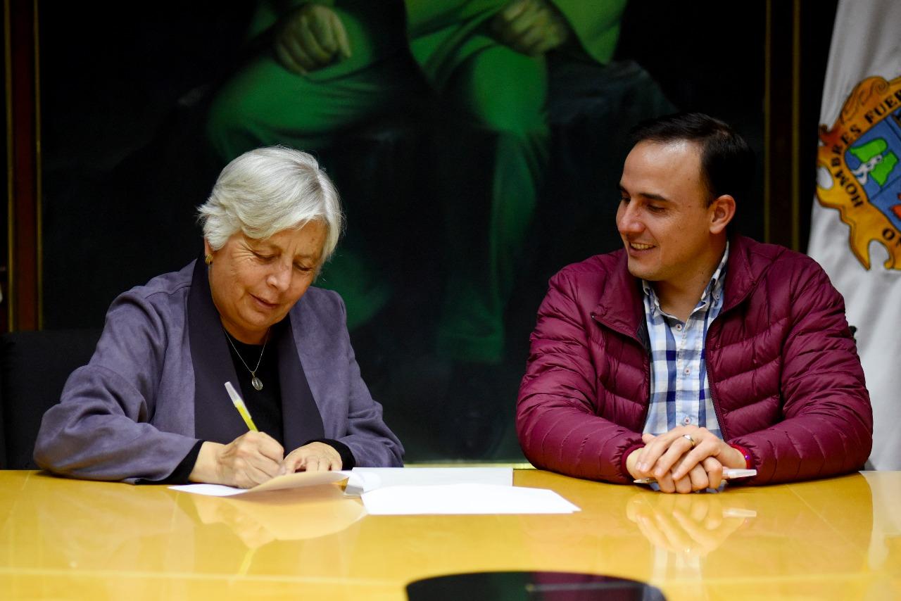 Firman convenio de colaboraci n municipio y secretar a del for Fuera de convenio 2018