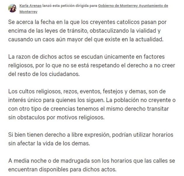 Monterrey contra las peregrinaciones religiosas | El Heraldo