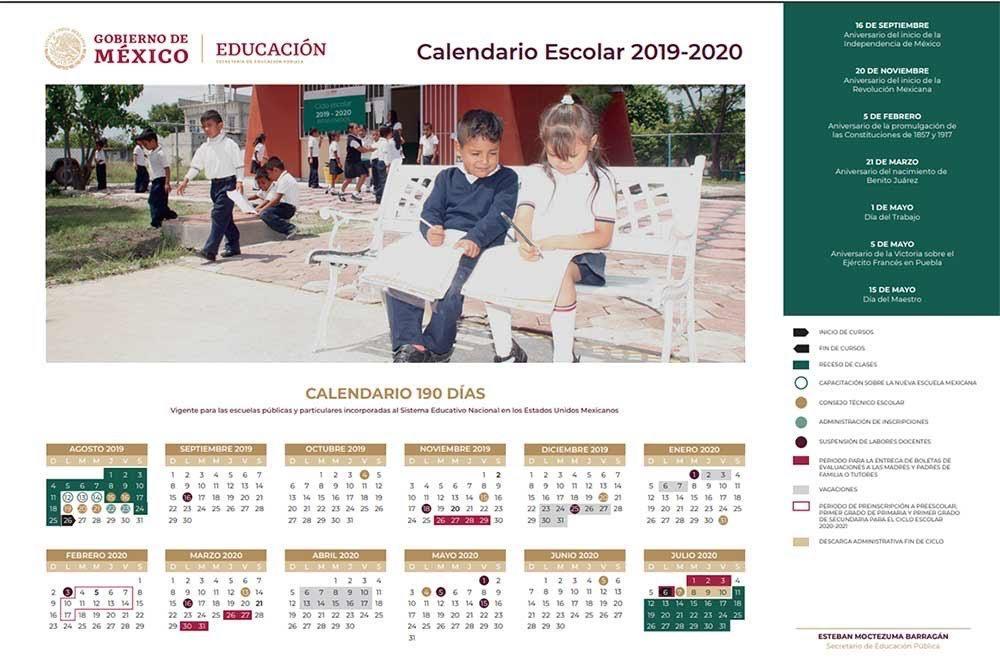 Calendario Escolar 2020 Sep Mexico.Sep Presenta Calendario Escolar 2019 2020 Habra 5 Puentes