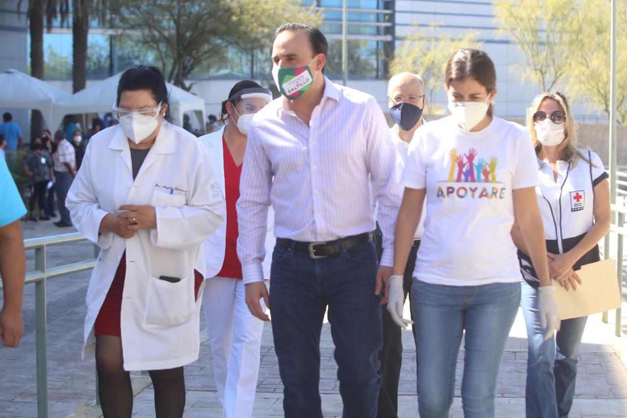Agradece Manolo apoyo de Cruz Roja y Apoyaré en esta pandemia