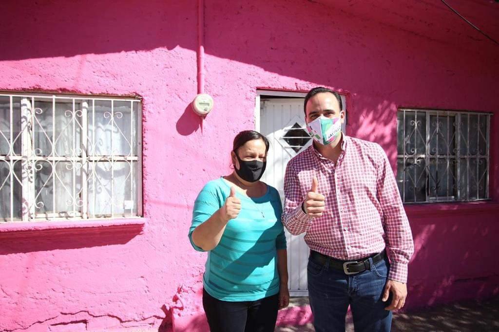 "Embellecen colonias de Saltillo con programa ""Pintando Sonrisas"""
