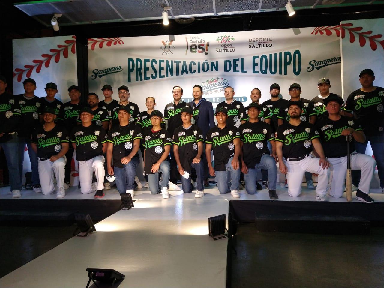 """Presentan el equipo de béisbol Saraperos """"Todos por Saltillo"""""""